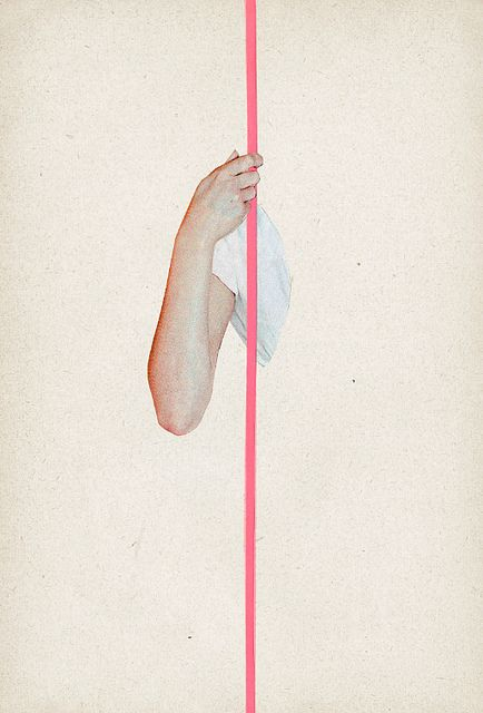 Walk the line.: Illustrations Art, 3 By Emma Dajska, Pink Stripes, Collage Paintings, Drawing Ideas, Graphics Design, Simple Collage, Stripes Posters, Posters Paintings