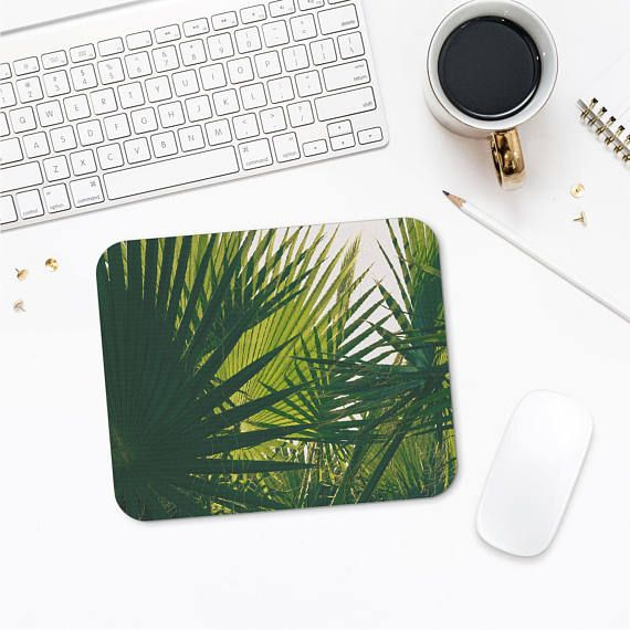 Tropical Mousepad, Palm Leaves Art, Photo Mousepad, Neoprene Mousepad, Mouse Pad Nature, Gift For Him, Computer Mouse Mat