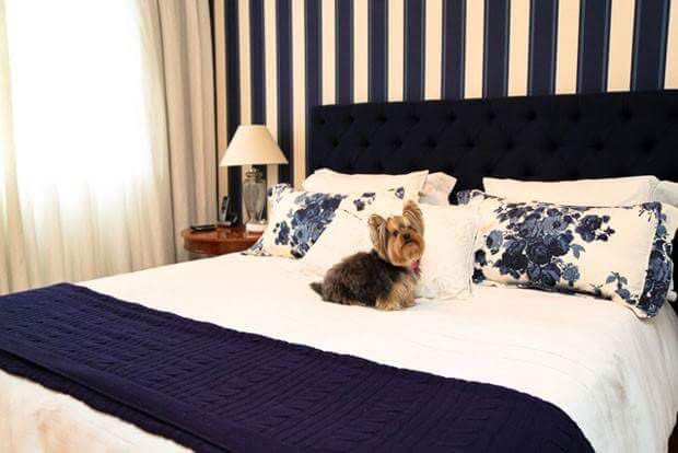 Quarto azul marinho com listras  Homestyle  Pinterest  Quartos