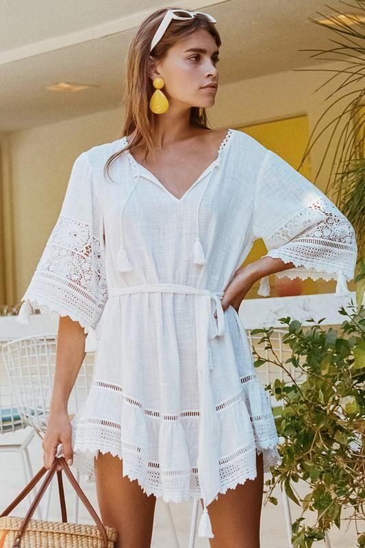 26e06322da2f36 Abigail Lace Mini Dress