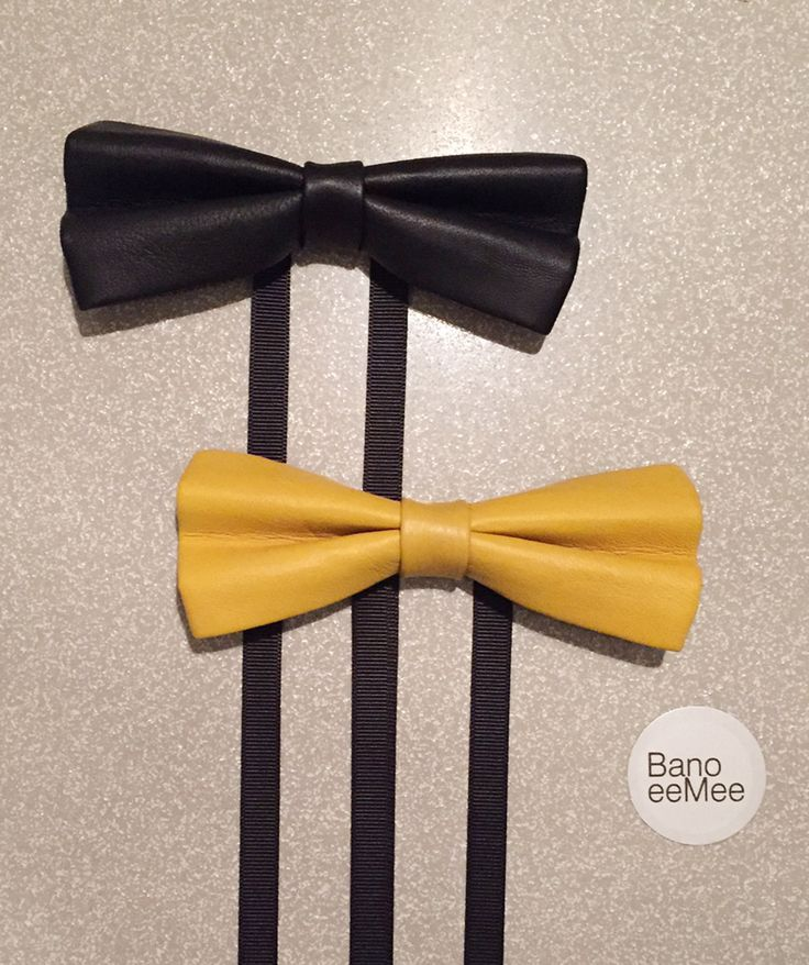 BanoeeMee Leather Bow Ties