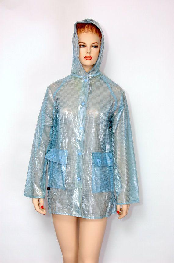 Rain plastic coat