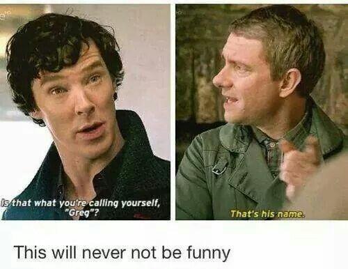 """""""Emma, I insulted Lestrade and I feel terrible"""" Sherlock said to Emma. @emmamayopenshaw"""