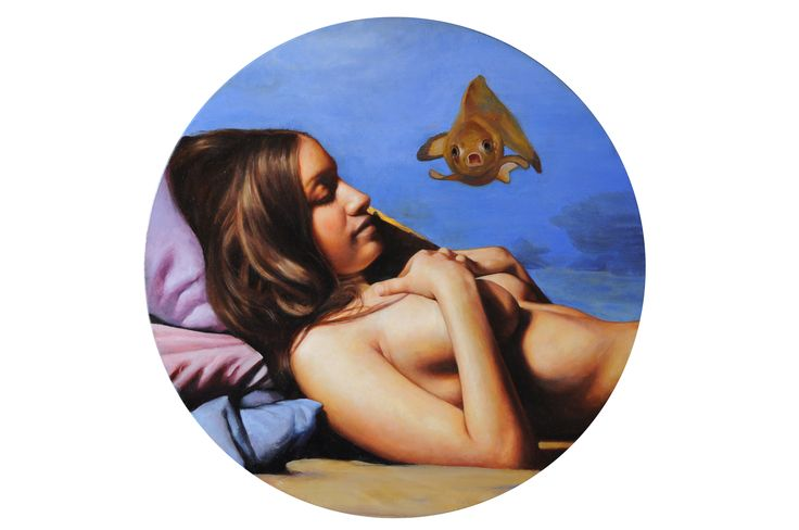 """Andrea Esposito, """"Aquarium"""", olio su tela, 50cm, 2015"""