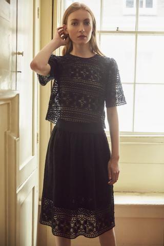 Portobello Cotton Lace Skirt