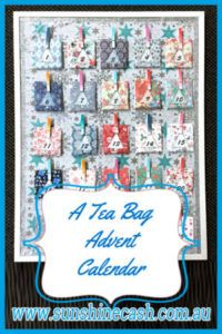 A Different Advent Calendar. A teabag calendar with teabags and tea quotes.