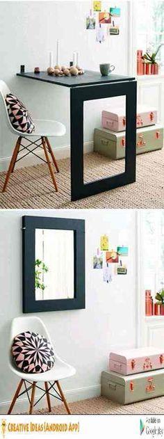 make it much bigger but when closed, it's a mirror = big room effect. Brilliant!!