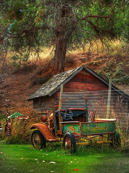Old Fords never die, they just becoom picturesque, by John Poons