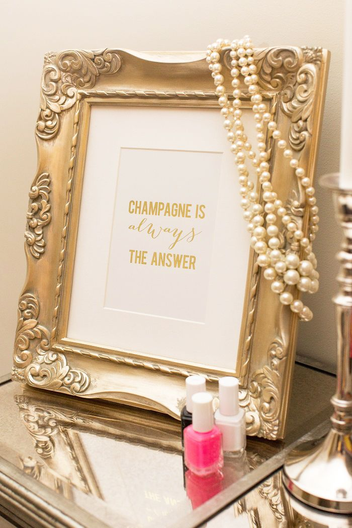 Champagne is always the answer framed print #WowwithTownhouse