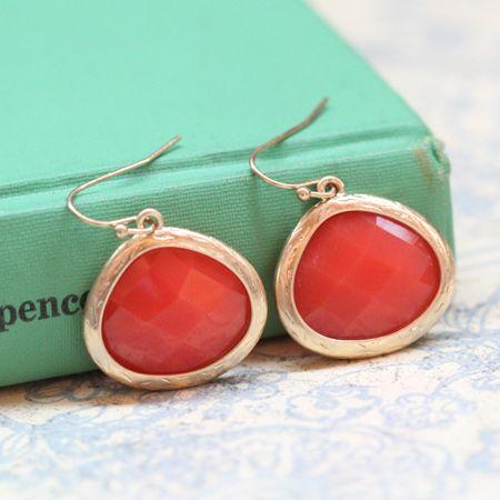 Lovely coral earrings!