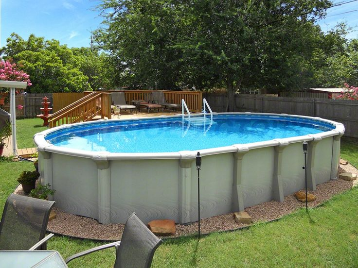 Image Result For Oval Above Ground Pools. SchwimmbadabdeckungenOvales  Oberirdisches ...