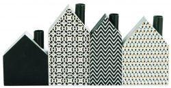 Blossom / Dekorativní domečky - set 4 ks