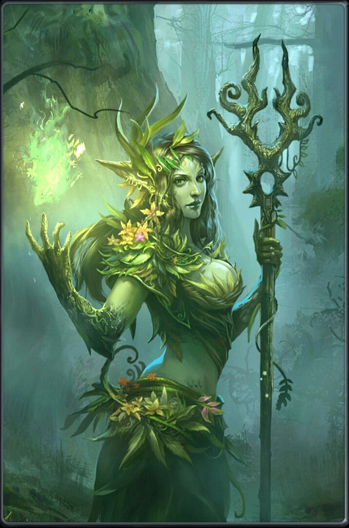 """Druantia is a hypothetical Gallic tree goddess proposed by Robert Graves in his study The White Goddess (1948). In Neopaganism, Druantia is an archetype of the eternal mother as seen in the evergreen boughs. Her name is believed to be derived from the Celtic word for oak trees, """"drus"""" or """"deru"""". She is known as """"Queen of the Druids"""". She is a goddess of fertility for both plants& humans, ruling over sexual activities& passion. She also rules protection, trees, protection of trees…"""