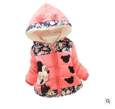 2016 dzieci outerwear dziewczynek bawełniane płaszcze z kapturem kurtka zimowa…