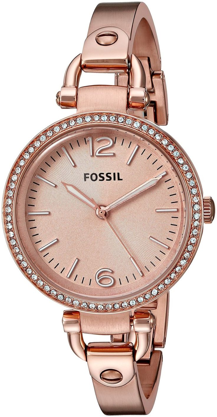 fossil women 39 s es3226 georgia glitz three hand stainless steel watch rose gold tone you can. Black Bedroom Furniture Sets. Home Design Ideas