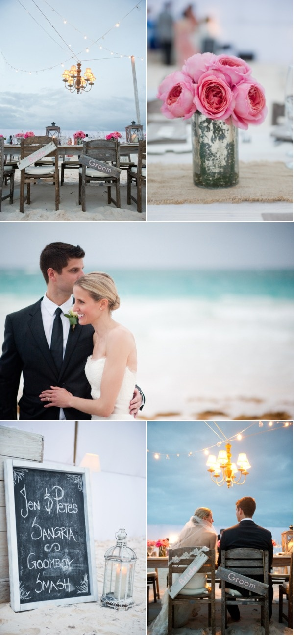 Beach wedding....a girl can dream. That would be awesome if David and I could do that... So pretty!
