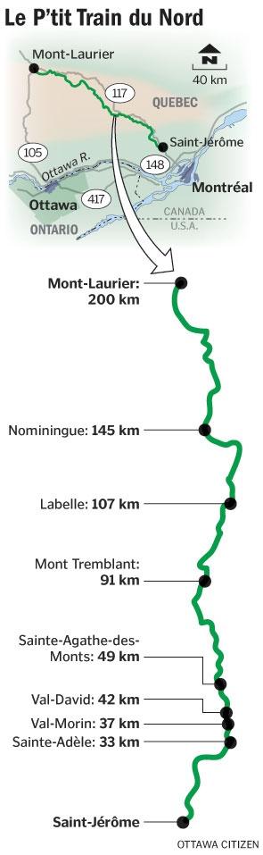 Quebec. P'tit Train du Nord. Cycle it!