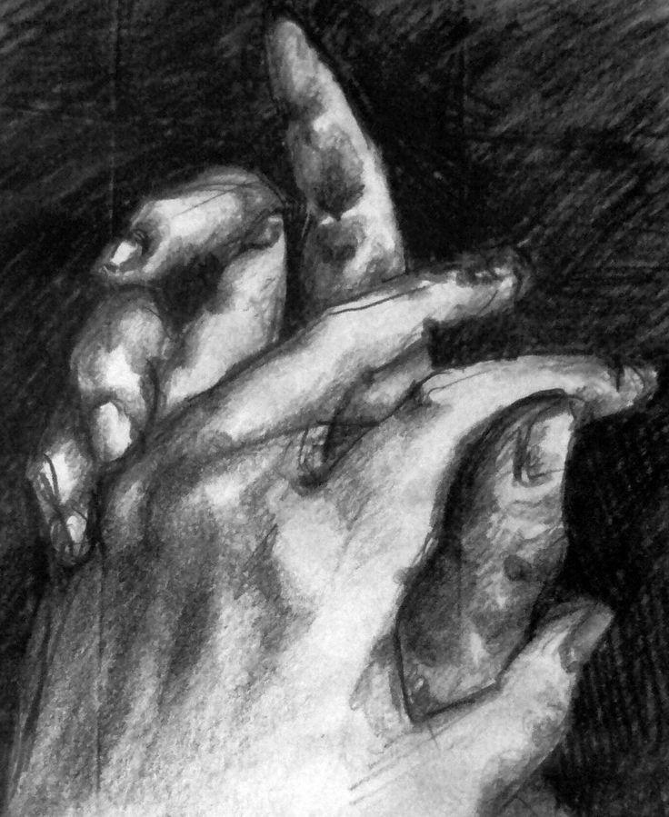 "Studio di mani per L'Opera ""Preghiera"" Sara Morghese"