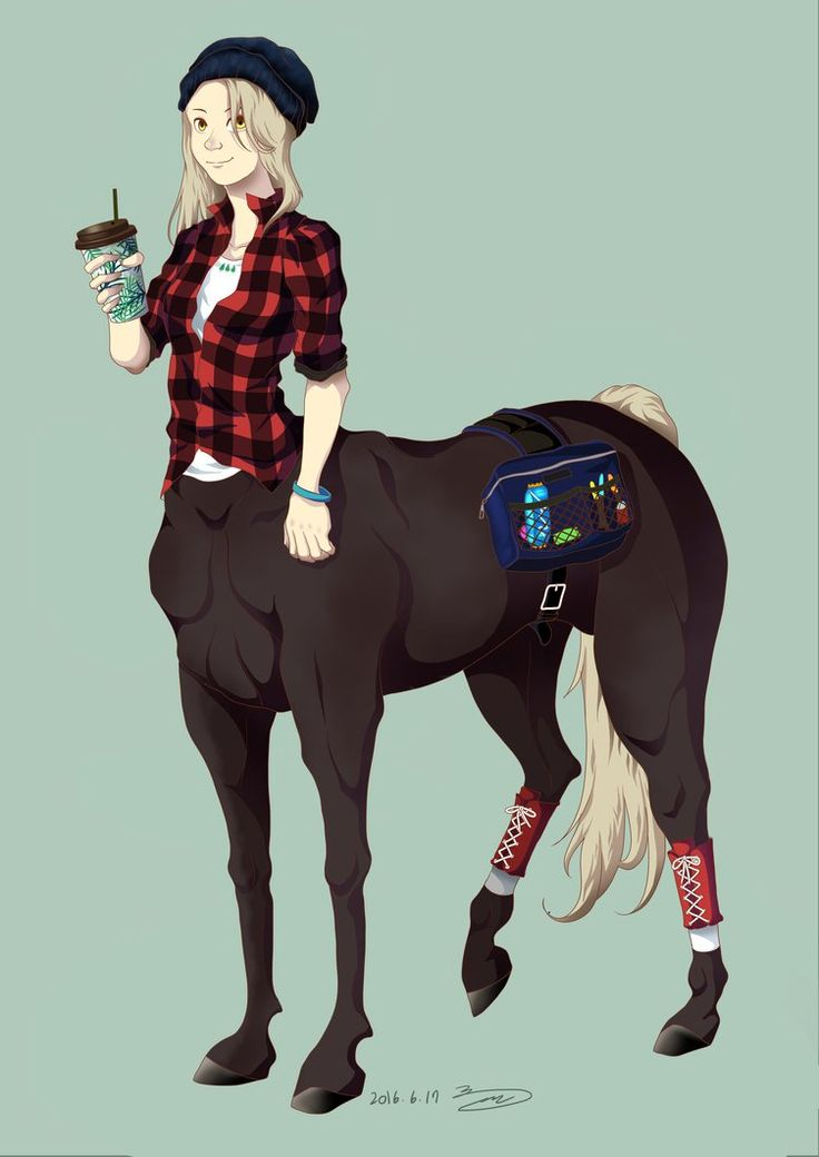 I do love Greek mythology and also animals with..hooves. (sure my favorite is horse though!) So I thought, Oh yeah, then of course I gotta draw a centaur! A modern one! ..and this is wh...