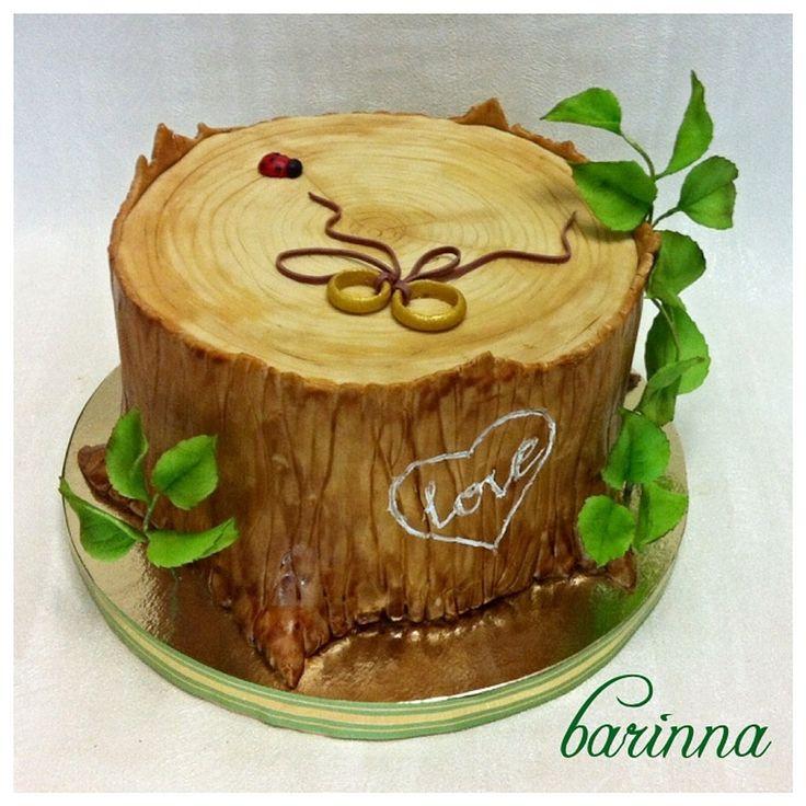 Торт на деревянную свадьбу 5