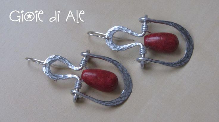 Alluminio e madrepora #gioiediale #lemaddine #lemaddinecreano #bijouxhandmade #handmadejewelry #bijoux #gioie_di_ale #orecchini #jewels #wire