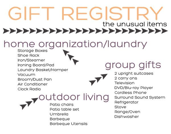 Tackling the Gift Registry - The Unusual Items on Squirrelly Minds