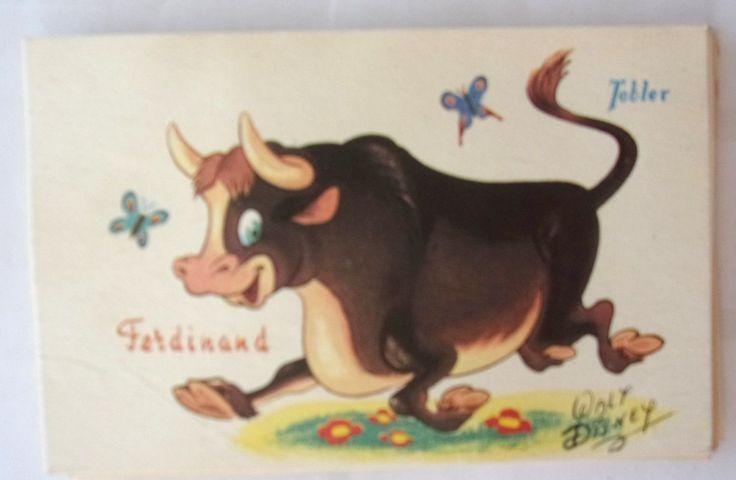 CPA Chocolat Tobler PAR Walt Disney Ferdinand | eBay