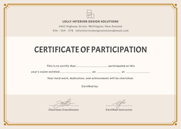 Pin By Mianaliriaz On Certificates Certificate Of Participation Template Free Printable Certificates Printable Certificates