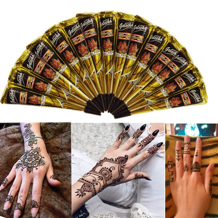 Black Natural Herbal Henna Cone Temporary Tattoo Tattoos Body Art   #health #beauty #woman