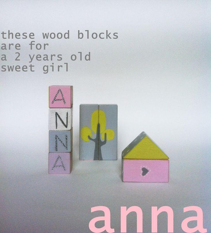 hand painter wood blocks