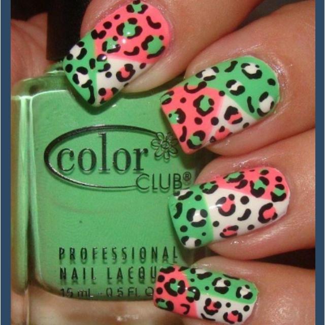 Hermosa Leopardo Diseños Para Las Uñas Friso - Ideas de Pintar de ...