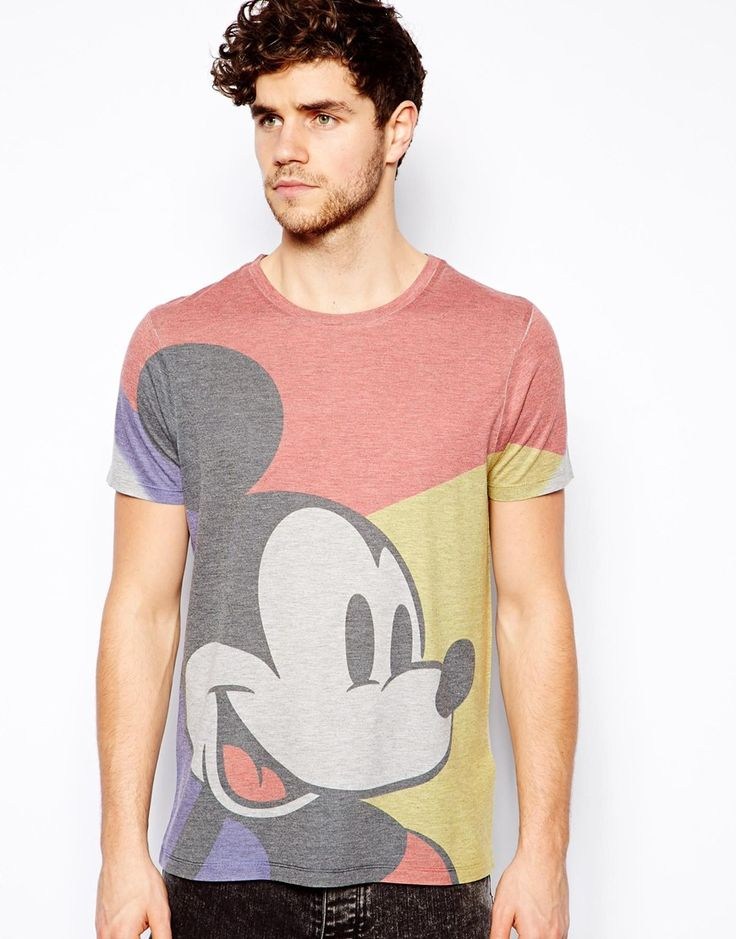 Men vintage T-Shirt With Mickey Mouse Print - £16.00