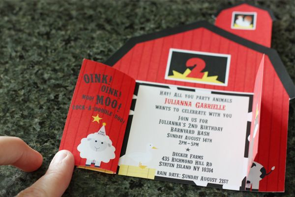 Wants and Wishes: Party planning: Barnyard/ Farm Invitations