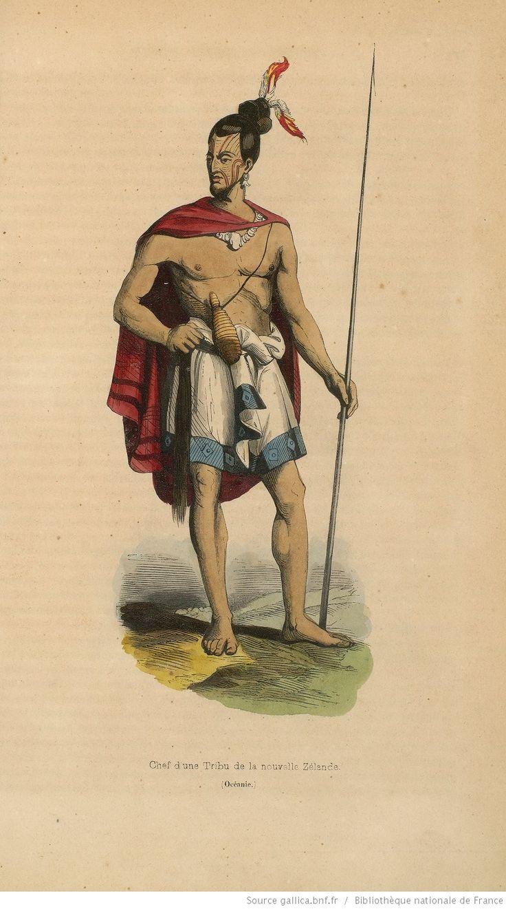 [Vol.4. Pl. en reg. p.298 :] Chef d'une tribu de la Nouvelle-Zélande (Océanie). [Cote : Réserve A 200 324]