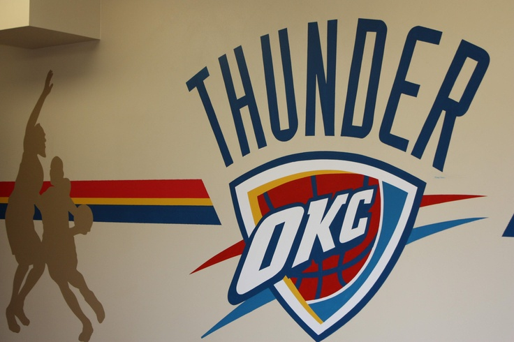 And The Thunder Rolls Party On In Our Okc Thunder Room This Is The Most Popular Room In The