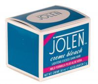 £2.79 - Jolen Creme Bleach 30ml Mild Formula Plus Aloe Vera Lightens Dark Hair on Face, Arms, Body and Brow. Contains Creme 30ml, Accelerator, Flat Pallett and Spatula. Contains Hydrogen Peroxide and Ammonium Bicarbonate