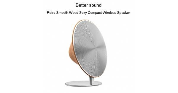Solo One Retro Smooth Wooden Wireless Speaker System - Mackabler.dk
