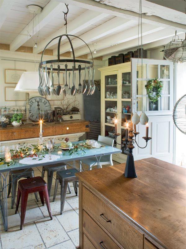 Les 268 meilleures images propos de maison sur pinterest ferme fran aise - Interieur ferme renovee ...