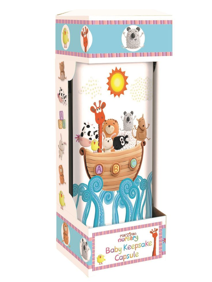 Marzipan Nursery Noah's Ark Keepsake Capsule - perfect as a thoughtful baby gift