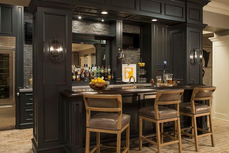 Built in bar ideas home bar transitional with tile floor home bar home bar