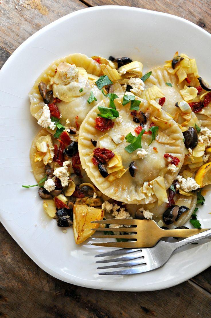 Vegane mediterrane Ravioli   – Vegan Comfort Food