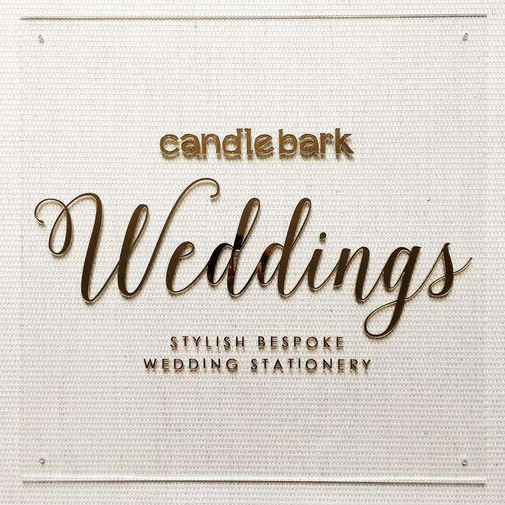 We love all things gold and shiny, so naturally, we LOVE our new Candlebark Weddings sign in our studio!