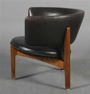 Sven Ellekær; Rosewood and Leather Arm Chair for Christian Linneberg Furniture, c1961.