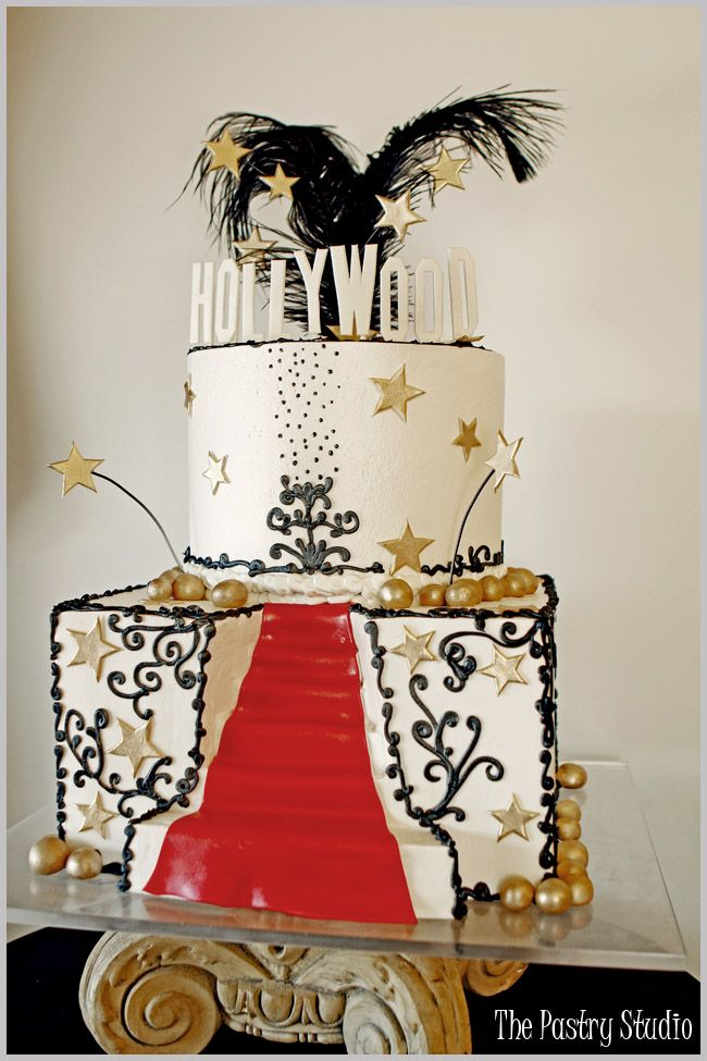 Hollywood Cake by The Pastry Studio. (Have the bottom layer be square with a stair way and the other one round). <3 <3 <3 <3