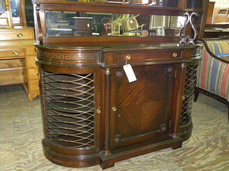 Vintage Antique Large Mahogany Dining Room Buffet Server Side Board Unknown