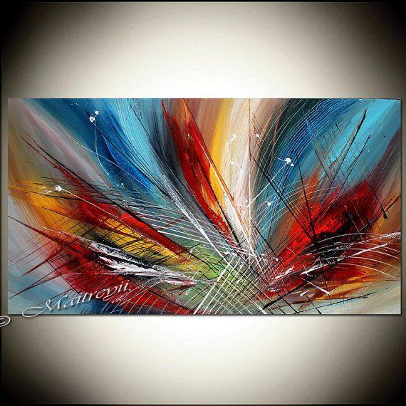 25 b sta toile peinture id erna p pinterest m lningar - Home deco peinture ...