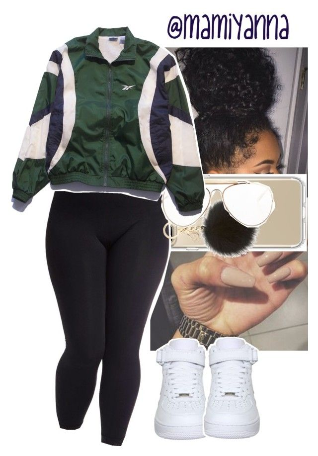 """""""Facts~H.E.R """" by mamiyanna on Polyvore featuring Speck, MICHAEL Michael Kors, CÉLINE, Reebok, NIKE and plus size clothing"""