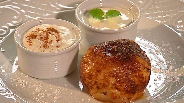 Velg noen gode, syrlig epler til denne desserten. Mette Blomsterberg har oppskriften på bakte epler med mye vanilje og godt med kanel. Foto: Fra TV-serien Det søte liv / DR