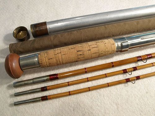 Antique Leonard Bamboo Salmon Fly Rod Classic Flyfishing