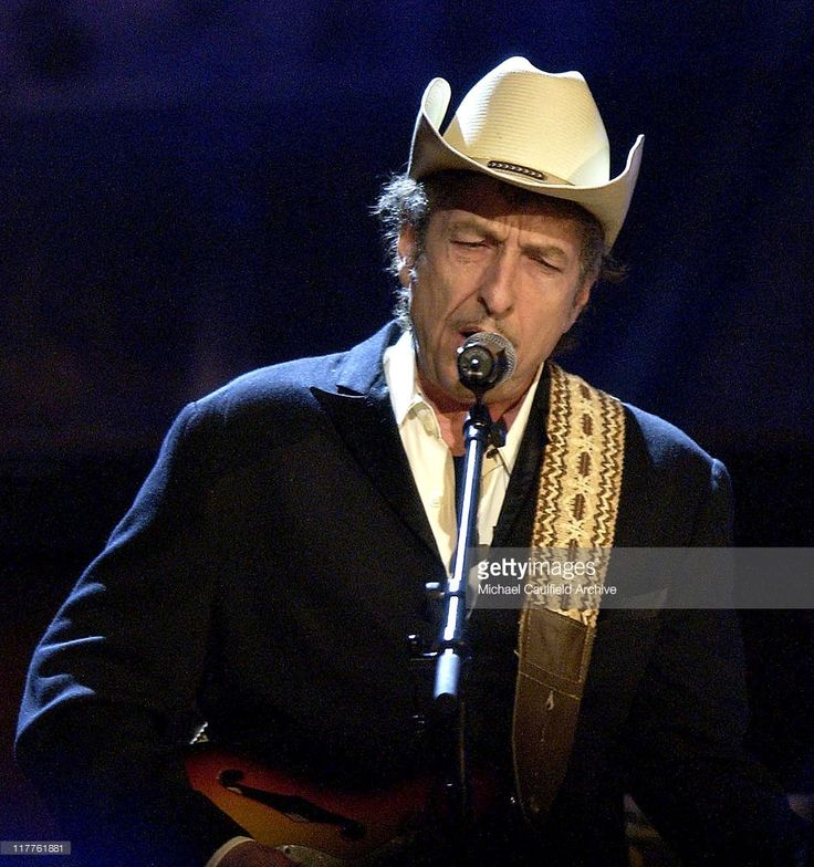 May 5, 2005 Bob Dylan during Willie Nelson and Friends: 'Outlaws & Angels' - Show and Backstage at Wiltern Theatre in Los Angeles, California, United States.